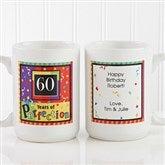 Aged to Perfection Personalized Birthday Coffee Mug 15oz.- White - 7219-L