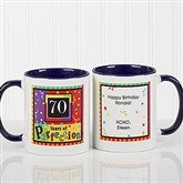 Aged to Perfection Personalized Coffee Mug- 11 oz.- Blue - 7219-BL