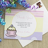 Cupcake Custom Thank You Cards - Pink - 7220-P