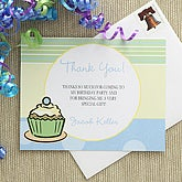 Cupcake Custom Thank You Cards - Blue - 7220-B