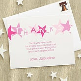 Birthday Star Thank You Cards - Pink - 7221-P
