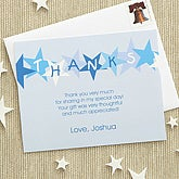 Birthday Star Thank You Cards - Blue - 7221-B