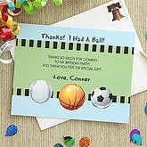 Sports Madness Custom Thank You Cards - 7222