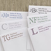 Academy Monogram Return Address Labels - 7232
