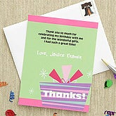 Birthday Celebration Custom Thank You Cards - 7242