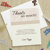 Then and Now Custom Thank You Cards - 7253