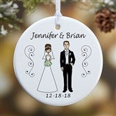 1-Sided Wedding Party Characters Personalized Ornament- Small - 7265-1