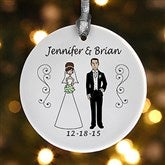1-Sided Wedding Party Characters Personalized Ornament