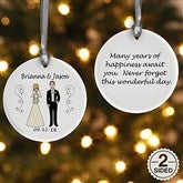 2-Sided Wedding Party Characters Personalized Ornament - 7265-2