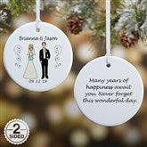 2-Sided Wedding Party Characters Personalized Ornament- Small - 7265-2