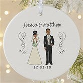 1-Sided Wedding Party Characters Personalized Ornament-Large - 7265-1L