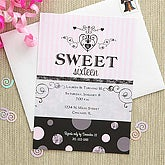 Sweet Sixteen Custom Birthday Invitation - 7271-B