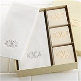 Elegant Monogram Guest Soap & Towel Set - 7277D-Monogram