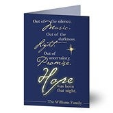 Hope Was Born Christmas Card-Premium - 7324-P