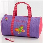 Butterfly Embroidered Duffel Bag - 7347-B