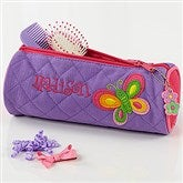 Butterfly Embroidered Cosmetic Case - 7347-C