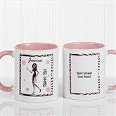 Birthday Girl Personalized Coffee Mug 11oz.- Pink - 7360-P