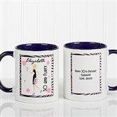 Birthday Girl Personalized Coffee Mug 11oz.- Blue - 7360-BL