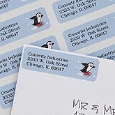 Skating Penguin Return Address Labels - 7365