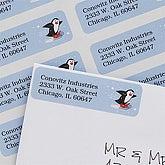 Skating Penguin Return Address Labels - 7365
