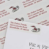 Santa's Sleigh Return Address Labels - 7386
