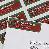 A Blessed Christmas Return Address Labels - 7392