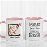 Soul Mates Personalized Photo Coffee Mug 11oz.- Pink - 7419-P