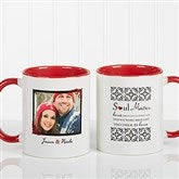 Soul Mates Personalized Photo Coffee Mug 11oz.- Red - 7419-R