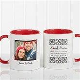 Soul Mates Personalized Photo Coffee Mug 11oz.- Red - 7419-R