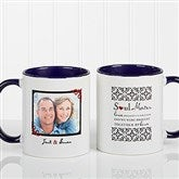 Soul Mates Personalized Photo Coffee Mug 11oz.- Blue - 7419-BL