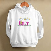 Butterfly Garden Toddler Hooded Sweatshirt - 7460-THS