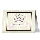 Welcome Princess Personalized Greeting Card - 7493-P