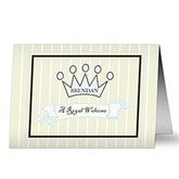 Welcome Prince Personalized Greeting Card - 7493-B