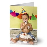 Birthday Photo© Personalized Greeting Card - Vertical - 7496-V