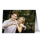 Romantic Photo Personalized Greeting Card - Horizontal - 7499-H