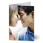 Romantic Photo Personalized Greeting Card - Vertical - 7499-V