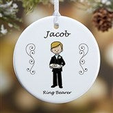 1-Sided Wedding Party Characters Personalized Ornament - 7528-1