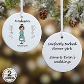 2-Sided Wedding Party Characters Personalized Ornament- Small - 7528-2