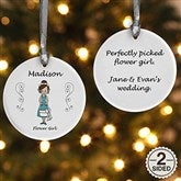 2-Sided Wedding Party Characters Personalized Ornament - 7528-2
