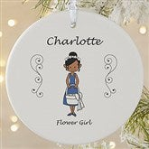 1-Sided Wedding Party Characters Personalized Ornament-Large - 7528-1L