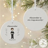 2-Sided Wedding Party Characters Personalized Ornament-Large - 7528-2L