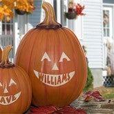 Personalized Jack-O-Lantern Pumpkin - Large - 7566L