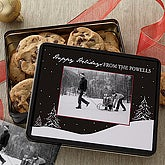 Snowscape Personalized Photo Gift Tin - 7578