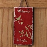 Welcome Sparrow Personalized Slate Plaque - 7587
