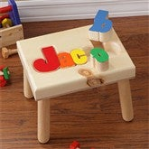 Personalized Name Stools - Large - Primary - 7622D-LPR