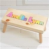 Rainbow Name Personalized Puzzle Stool - Large - Pastel - 7622D-LPA