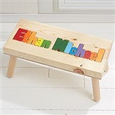Rainbow Name Personalized Puzzle Stool - Large - Primary - 7622D-LPR
