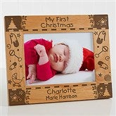 My First Christmas Personalized Frame- 5 x 7 - 7625-M