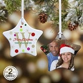 2-Sided Festive Monogram Personalized Ornament - 7637-2