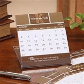 Inspirational Quotes Monogram Desk Calendar - 7639